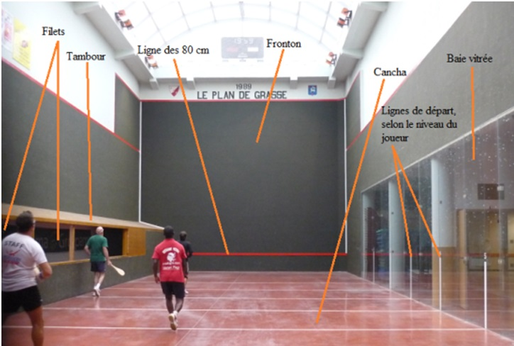 Intérieur du trinquet du Plan de Grasse, photographie de Chloé Rosati-Marzetti (juillet 2012)
