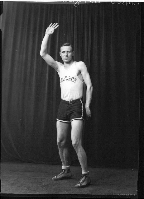 Harry Chalmer Richardson in basketball uniform 1927 (flickr the commons) http://www.flickr.com/photos/muohio_digital_collections/3192683508/