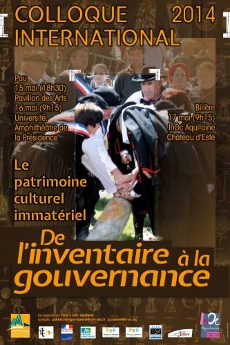 Affiche du colloque de l'Inventaire à la gouvernance